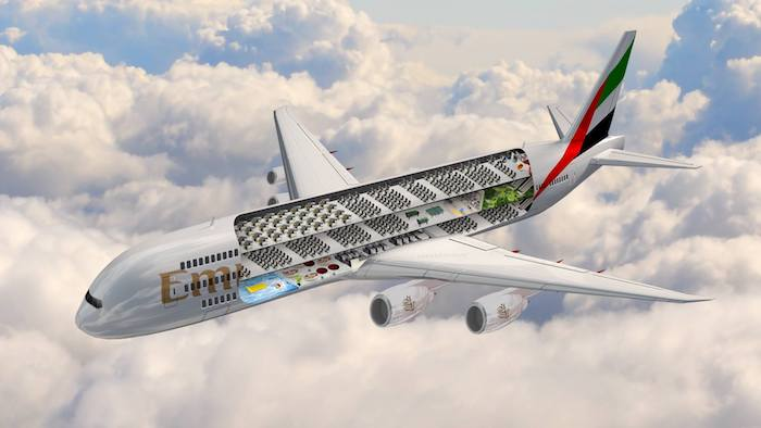 Wow Emirates Unveils World S Biggest Plane Featuring Swimming