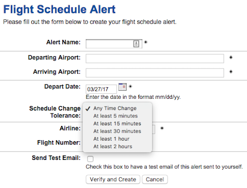 ExpertFlyer-Flight-Schedule-Alert