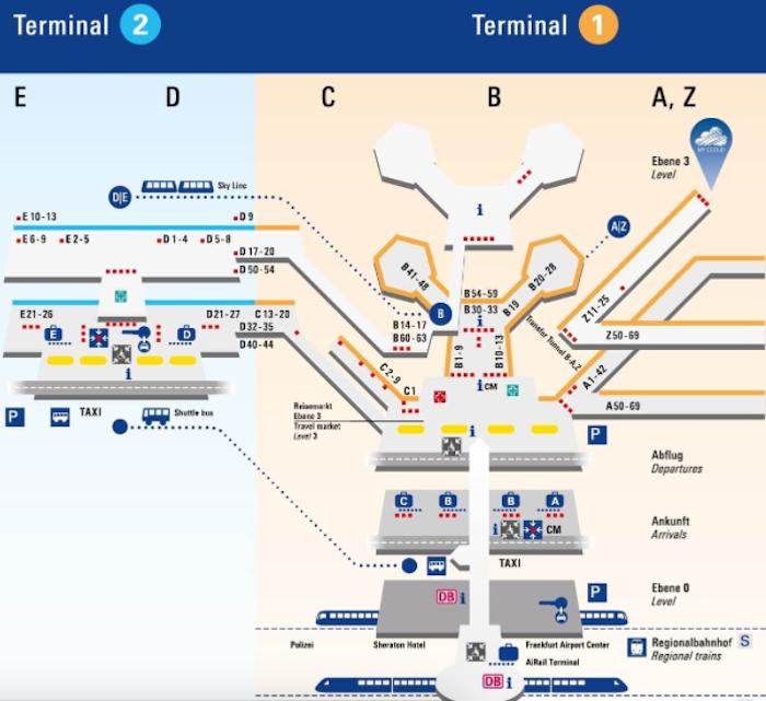 Frankfurt-Airport-Map