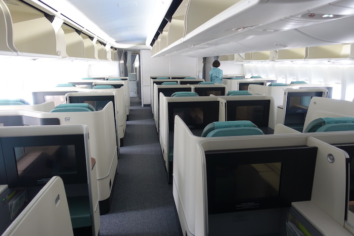 korean air business class 747 8 2 one mile at a time. Black Bedroom Furniture Sets. Home Design Ideas