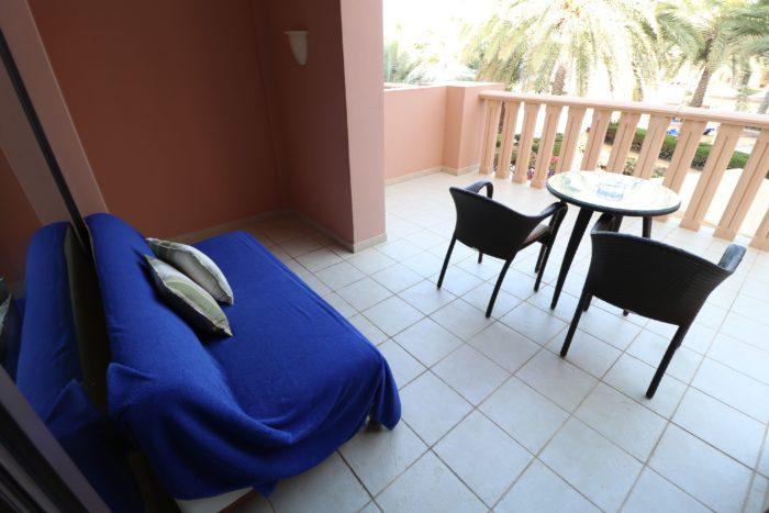 Balcony at the Shangri-La Barr Al Jissah Resort