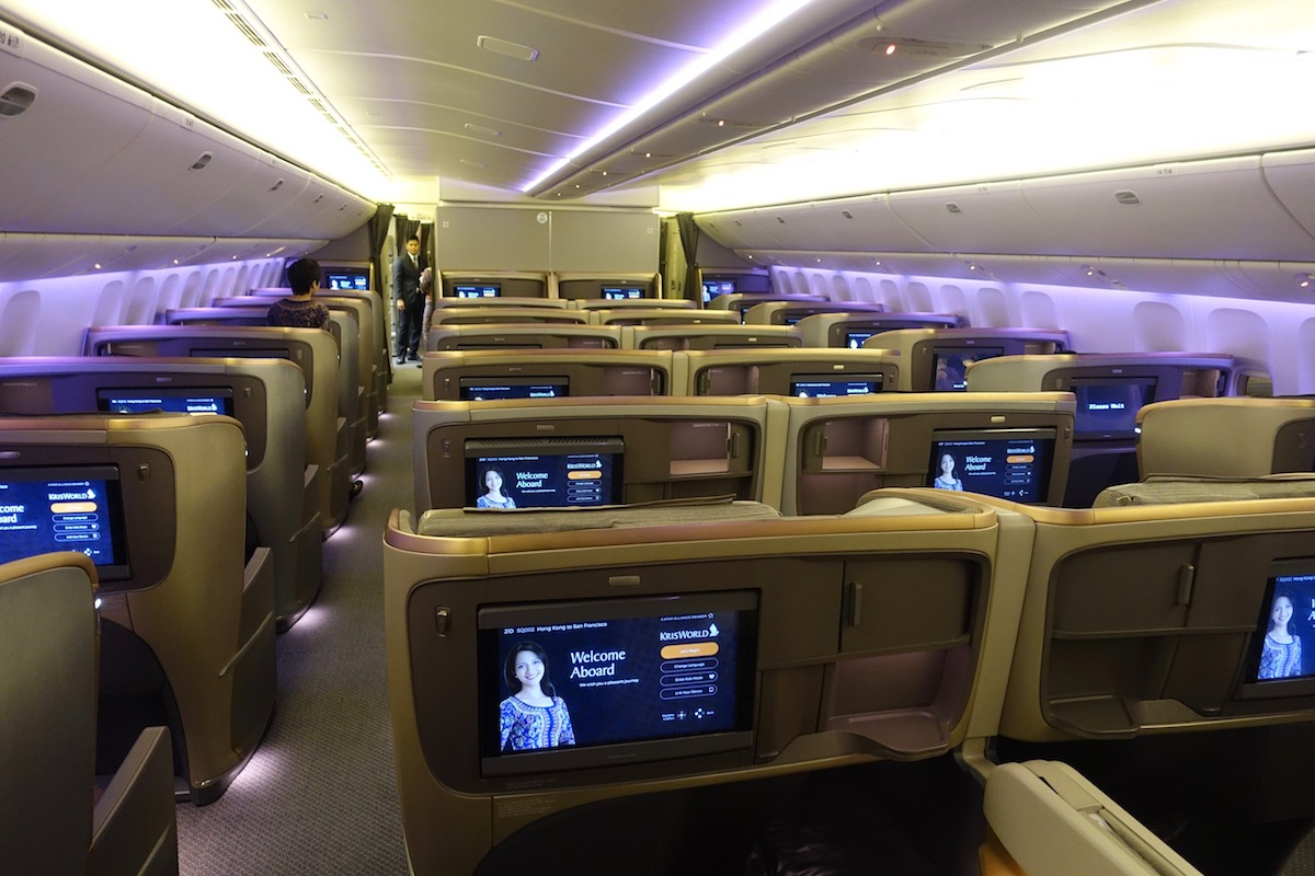 Singapore 777 business class 2 one mile at a time - Singapore airlines office ...