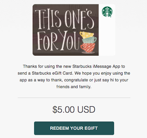 Apple Users Only: $10 Starbucks Gift Card For $5 | One Mile