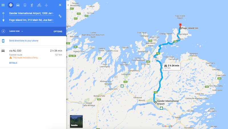 Gander Canada Map.How To Get To Fogo Island One Mile At A Time