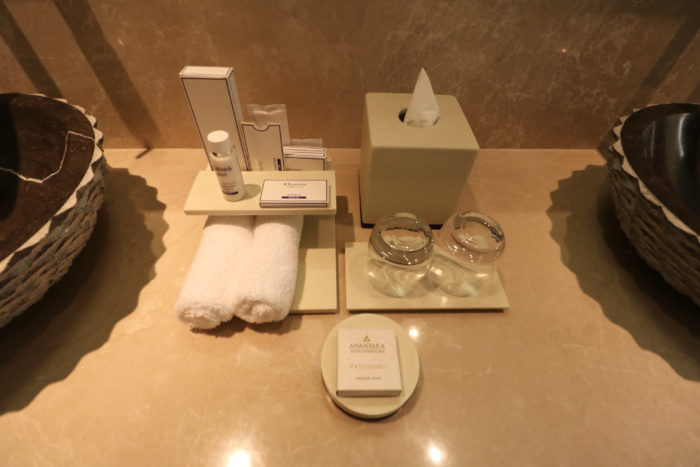 The toiletries in my room were from Elemis.