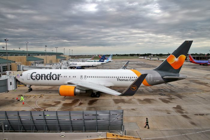 A Condor 767 after arriving in New Orleans.