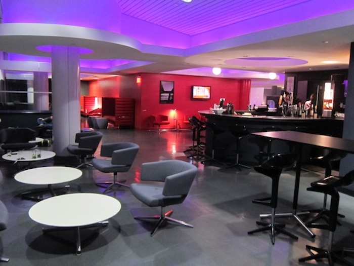 Virgin America's existing Loft lounge at Terminal 3, soon to be a petite SkyClub