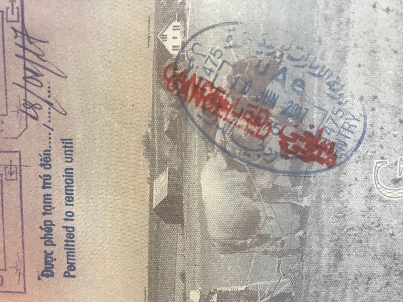 My Entry Into The UAE Was (Temporarily) Revoked | One Mile