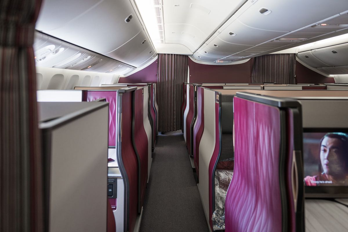 Review qatar airways qsuites business class er one mile