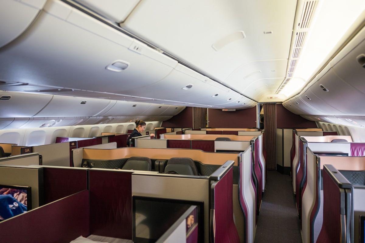 surprising qatar airways  qsuites destination  washington dulles  mile   time