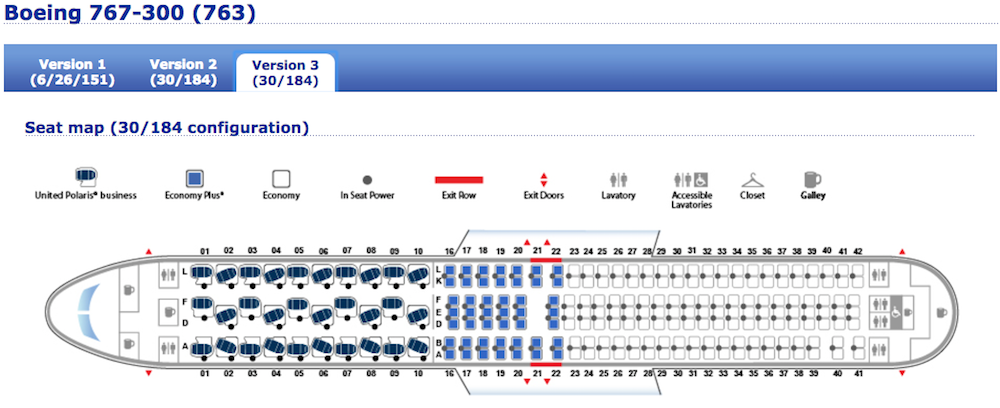 United Reveals Seatmap For First 767 With New Polaris Seats ... on delta boeing 767-400, boeing 767 business seat map, delta boeing 747 seat map, delta 757 seat map, delta airlines seat map, delta boeing 777-300er seat map, united airlines 767 seat map, delta 767-400er seat map, delta seating chart,