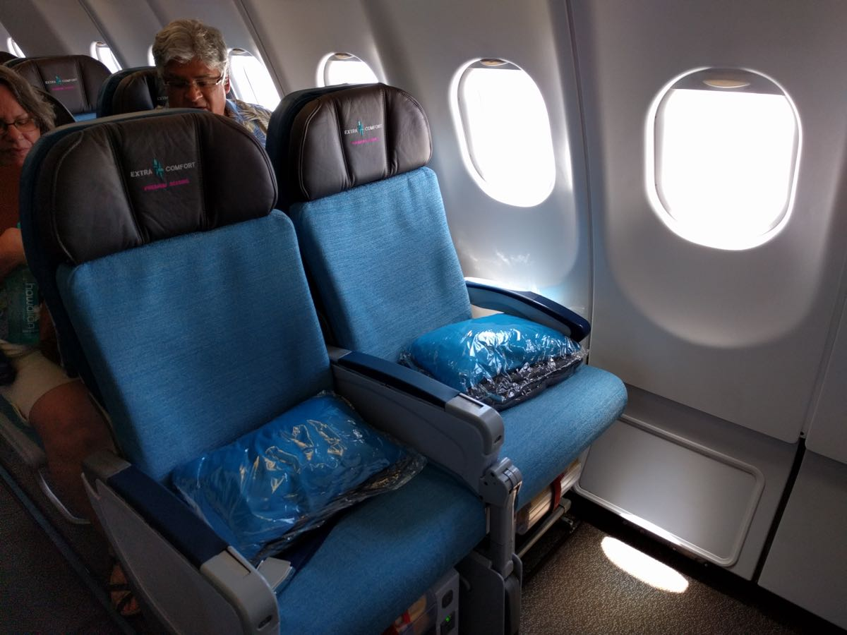 Review Hawaiian Airlines Extra Comfort A330 Kahului To