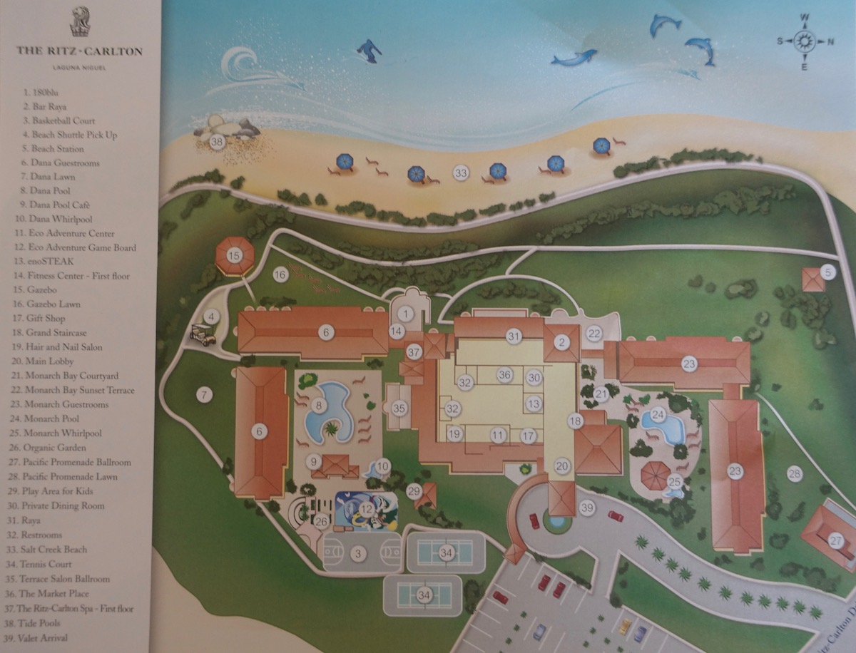 Ritz Carlton Laguna Niguel Property Map