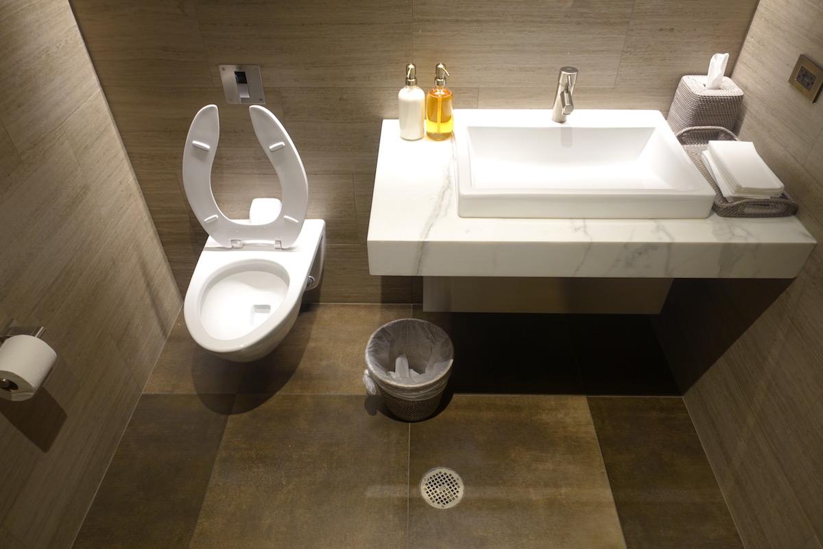 United Polaris Lounge Bathrooms