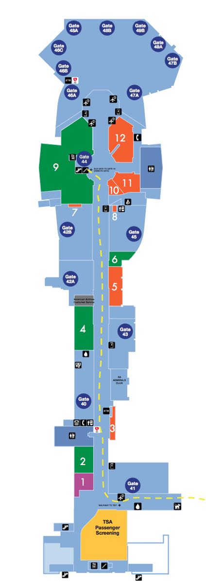Lax Terminal 4 Map How To Get Between Terminals At LAX   One Mile at a Time Lax Terminal 4 Map