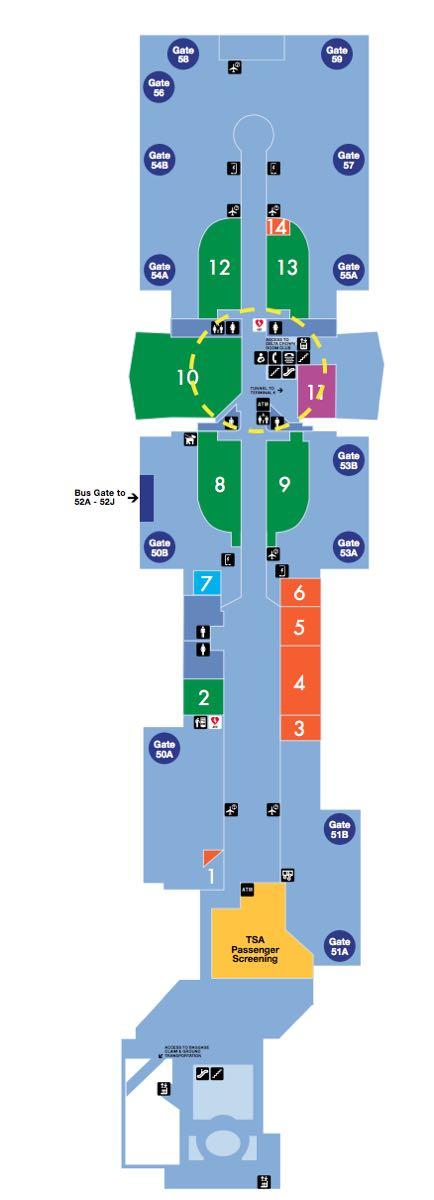 LAX Terminal 5 Map