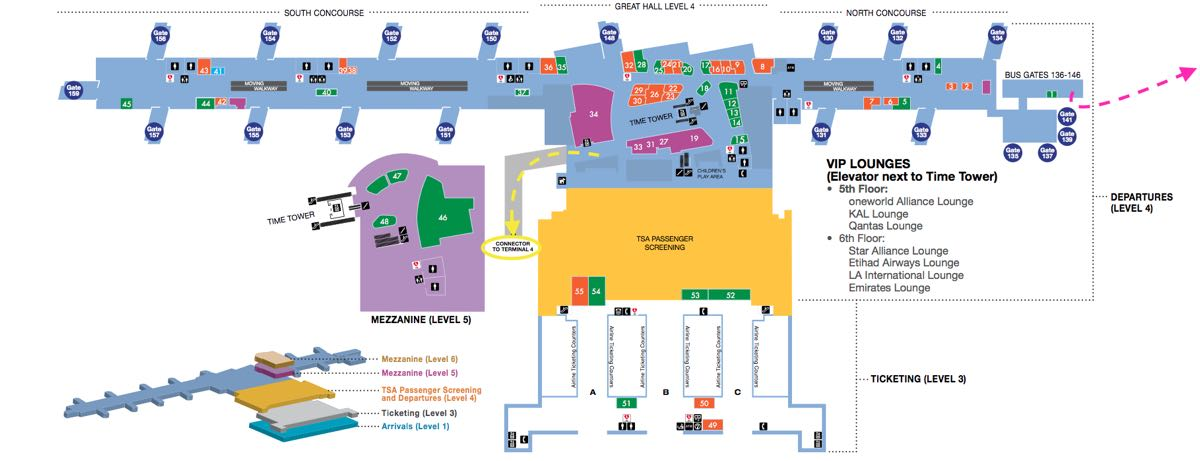 lax tom bradley international terminal map How To Get Between Terminals At Lax One Mile At A Time lax tom bradley international terminal map