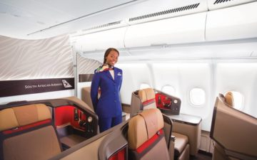 South African Airways Business Class 2
