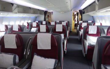 Qatar Airways 777 Business Class