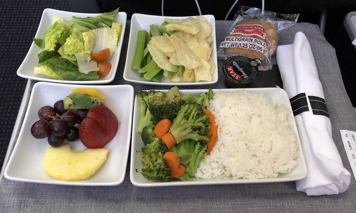 Not All American Airlines Asian Vegetarian Meals Are