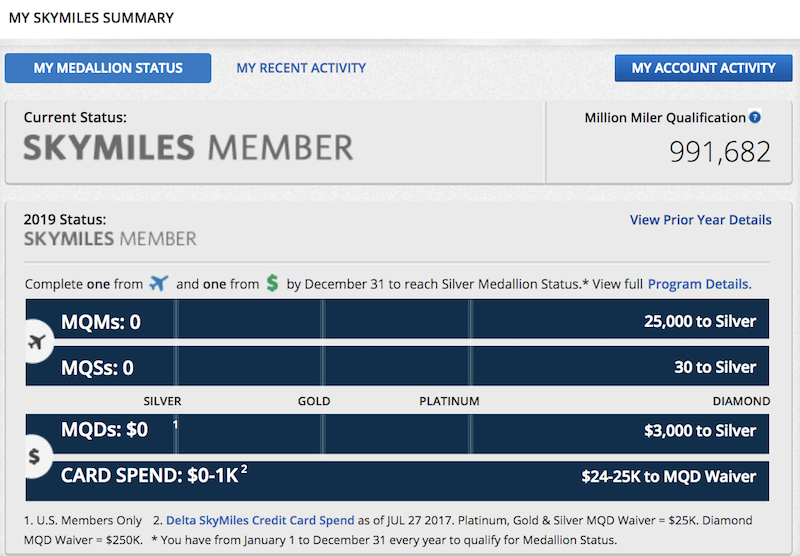 Hah: My Dad Can Earn Delta Million Miler Status By Applying