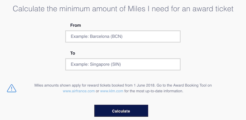 FlyingBlue Reveals New Award Pricing Calculator | One Mile