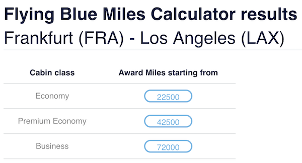 flyingblue reveals new award pricing calculator one mile at a time