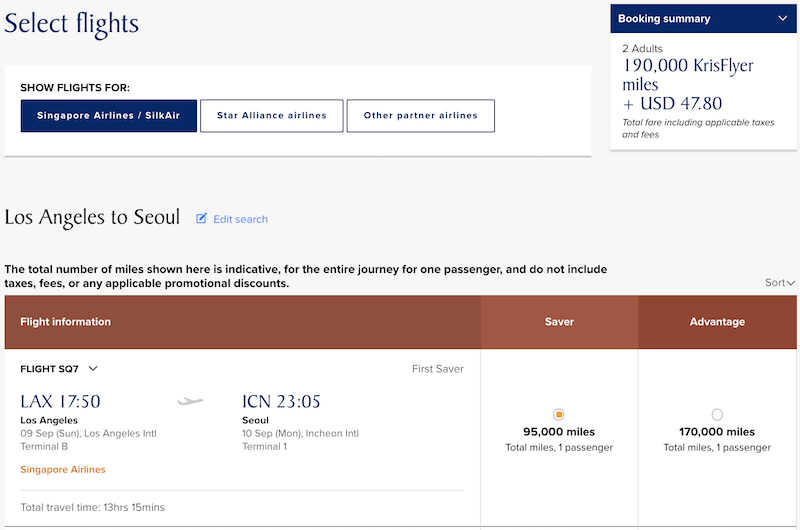 Singapore Airlines\' Excellent First Class Award Availability To/From ...