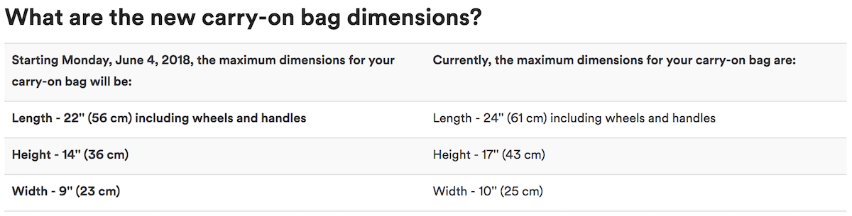 Why Are We Changing Our Carry On Bag Size