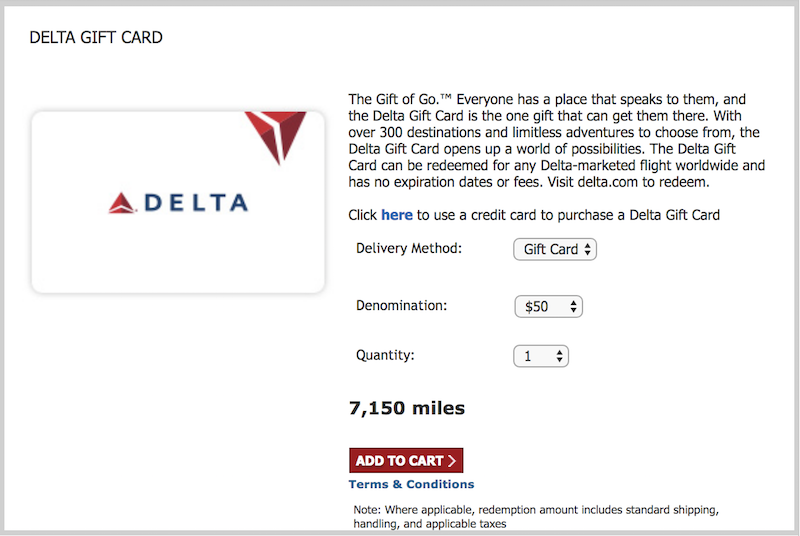 You Can Now Redeem SkyMiles For Delta Gift Cards | One Mile