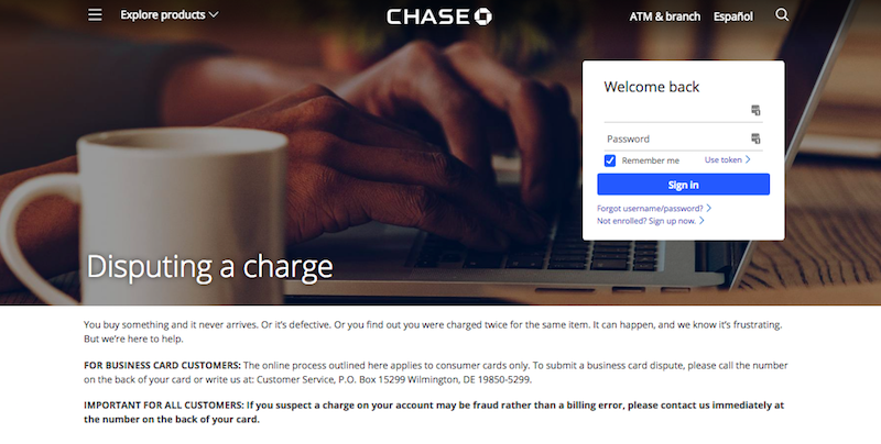 How To Dispute A Credit Card Charge With Chase One Mile At A Time