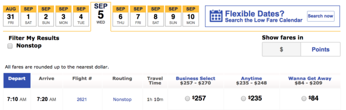 Southwest Cash Booking Louisville to Chicago