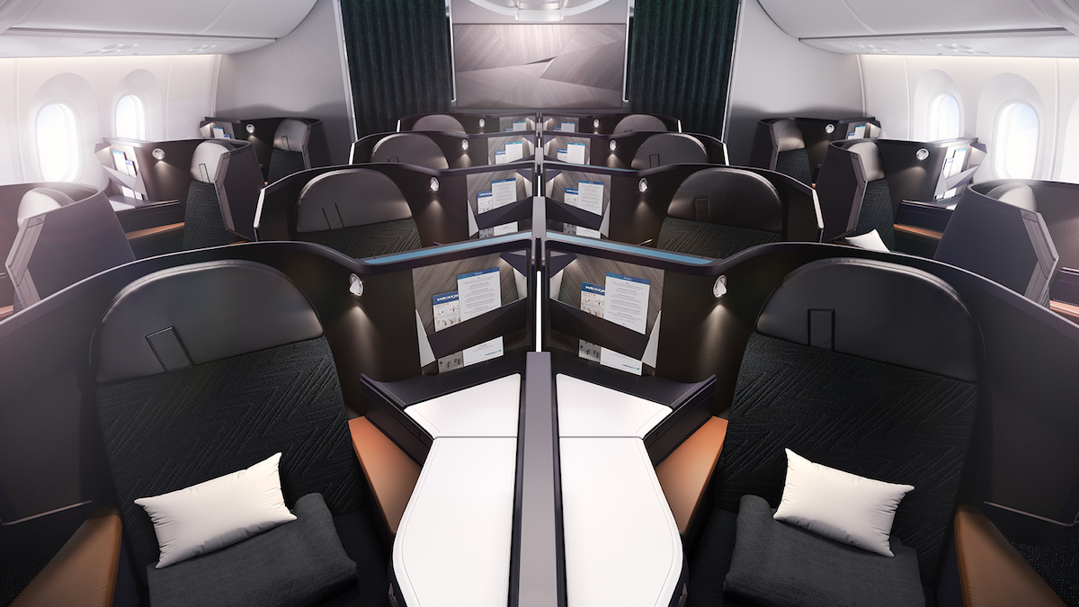 Business class will consist of B/E Aerospace Super Diamond reverse herringbone seats which are exactly the same ones that Air Canada has. & WestJet Reveals New 787 Interiors \u0026 Livery - One Mile at a Time