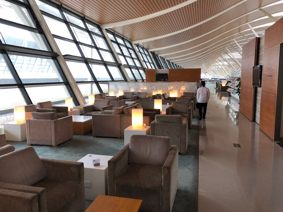 Review Cathay Pacific Lounge Shanghai Airport One Mile