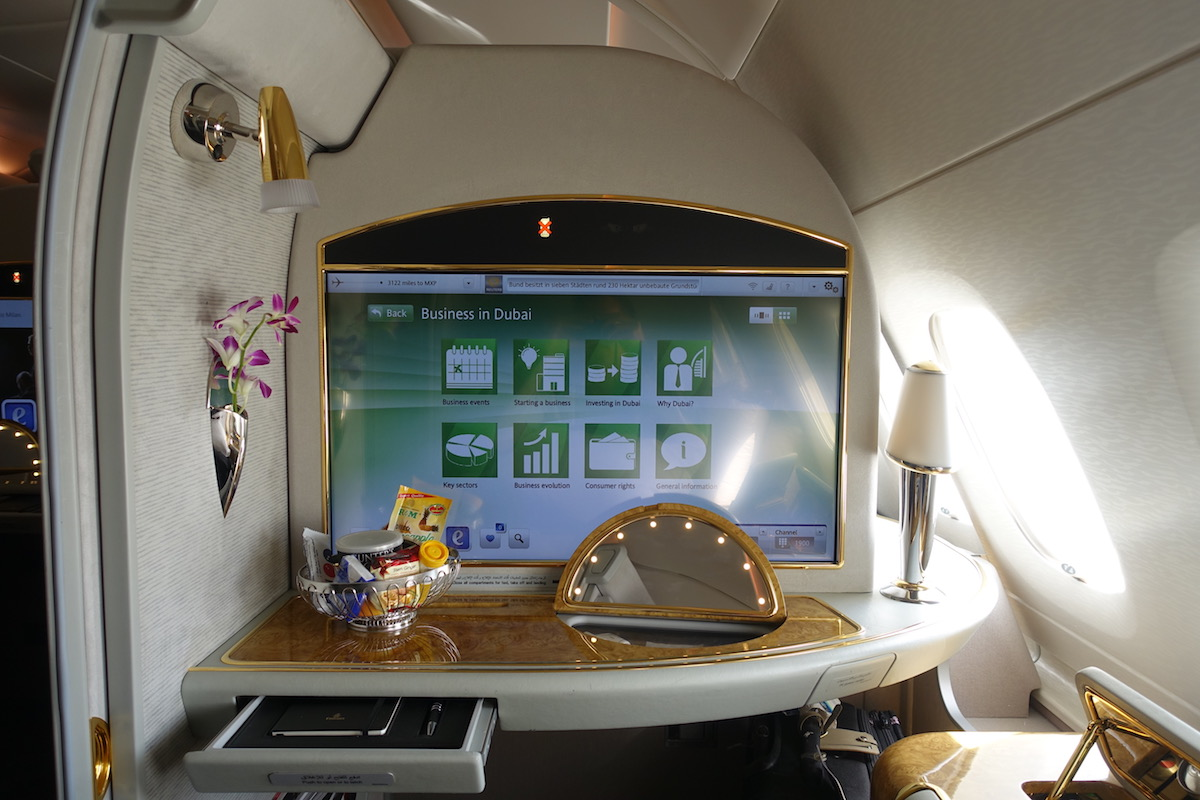 Review: Emirates A380 First Class Dubai To Milan - One Mile at a Time