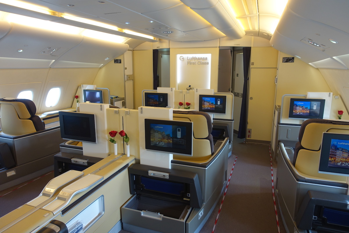 review lufthansa first class a380 houston to frankfurt one mile at a time. Black Bedroom Furniture Sets. Home Design Ideas