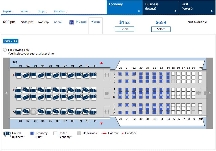Norwegian 787 Dreamliner Premium Cabin Seat Map