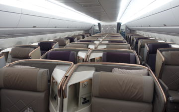 Singapore Airlines Business Class A350 – 5
