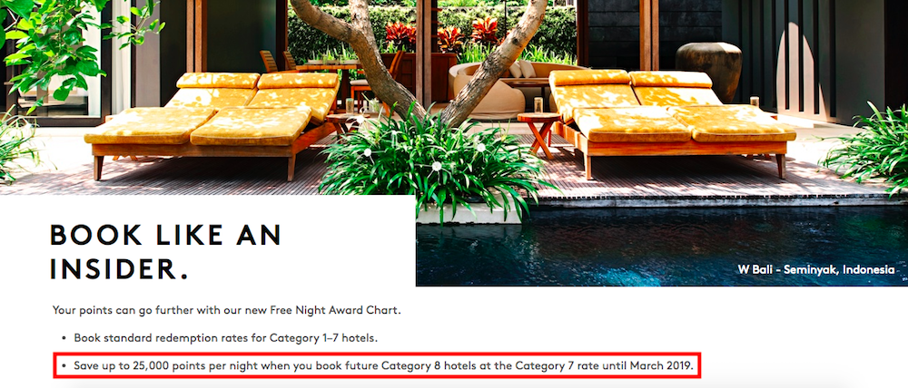Book Marriott Category 8 Hotels at Category 7 Rates Through