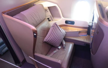 Singapore A350 Business Class – 3
