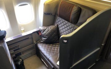 Singapore Airlines 777 First Class