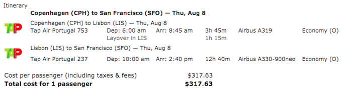 TAP Air Portugal\'s SFO Flight Now Bookable (Great Fares & Award ...