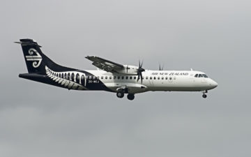 Air New Zealand Link Atr72 500 Zk Mcj Nz5202 Npe >akl Arr Akl