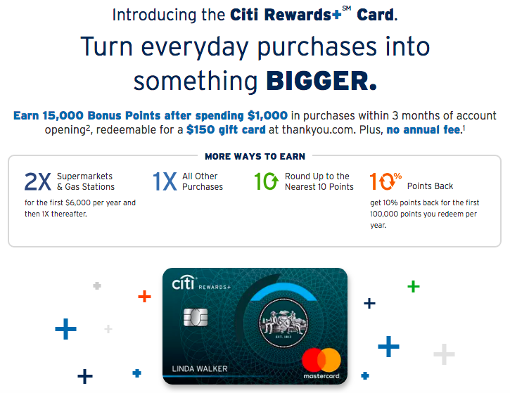Citi Rewards Card Rounds Up Points With No Annual Fee One Mile At