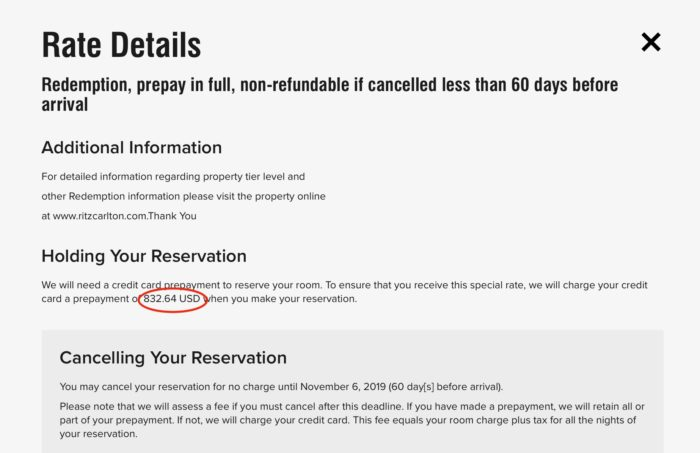 Marriott's Sneaky Award Hold Fees | One Mile at a Time