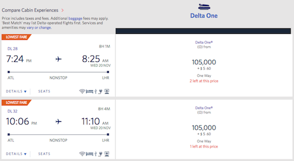 Delta Raises Business Class Award Costs To Europe   One Mile