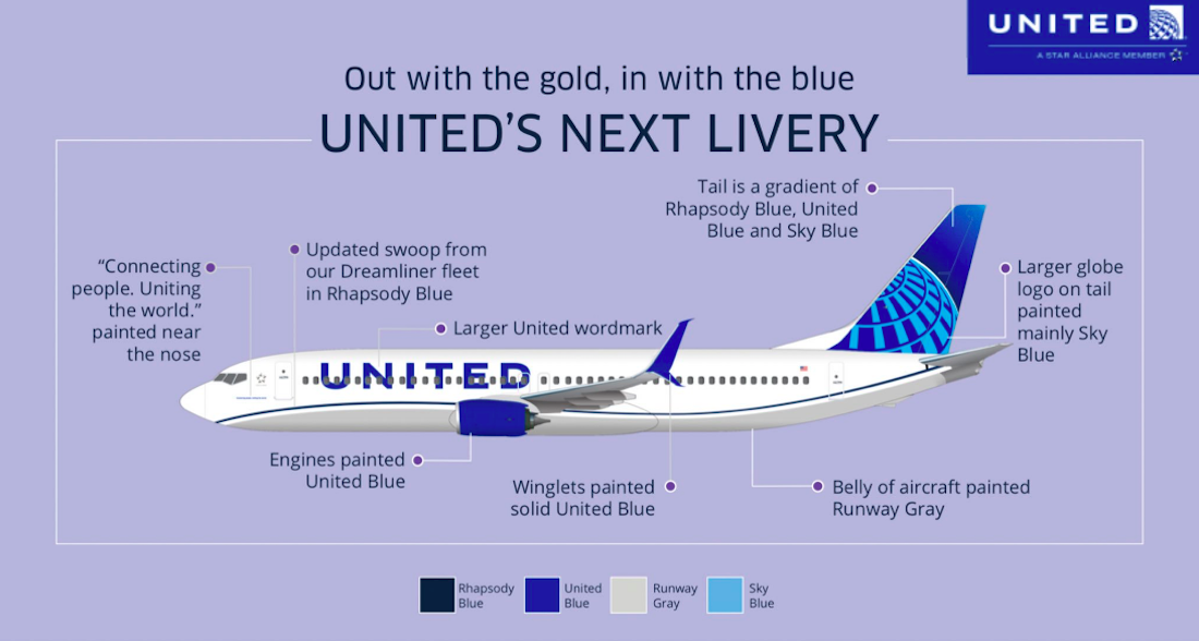 Official: United Airlines' New Livery | One Mile at a Time