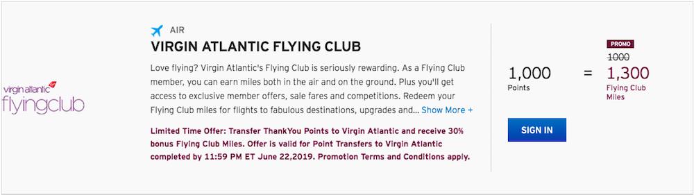 30% Bonus On Citi Points Transfers To Virgin Atlantic (Last