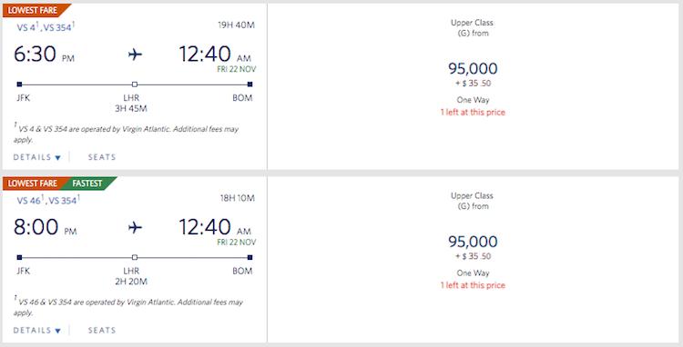 Virgin Atlantic's Mumbai Flight Now Bookable   One Mile at a