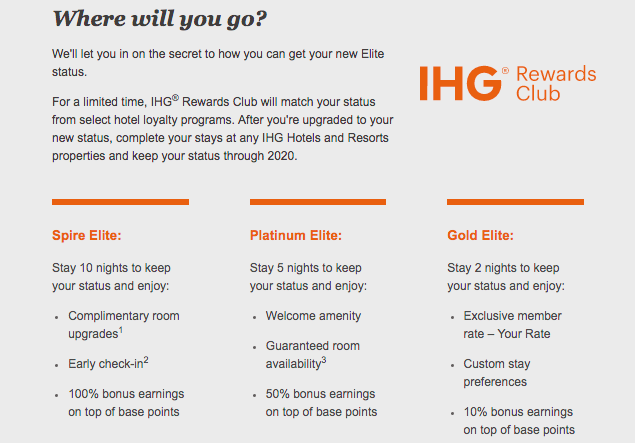 IHG Offering Limited Time Status Challenge | One Mile at a Time
